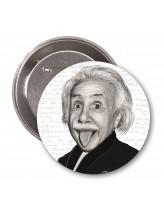 Albert Einstein Karikatür Rozet