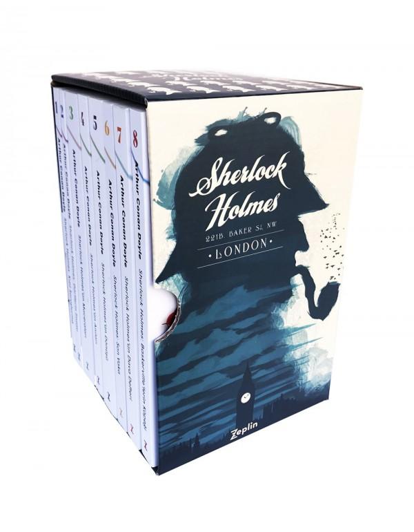 Sherlock Holmes Büyük Seti - 8 Kitap Takım Kutulu